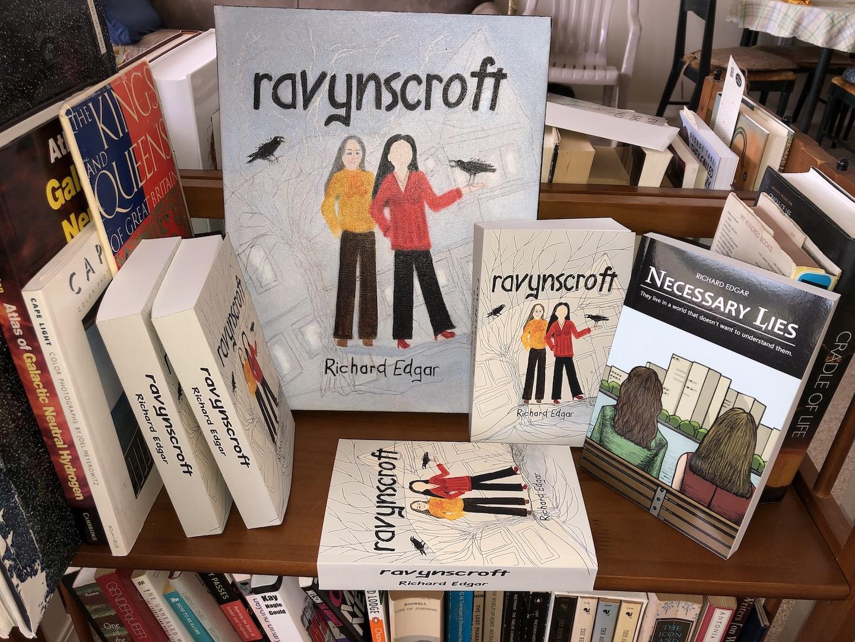 Paperback copies of Ravynscroft