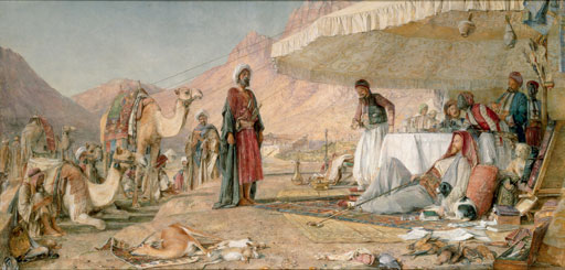 John Frederick Lewis - A Frank Encampment in the Desert of Mount Sinai