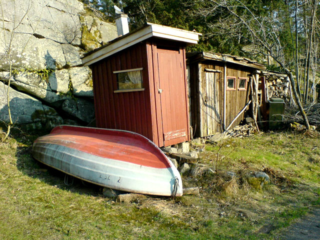 A shed and a boat