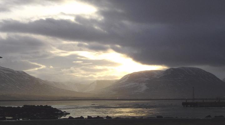 Akureyri in the morning