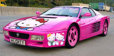 Yay! Hello Kitty Ferrari