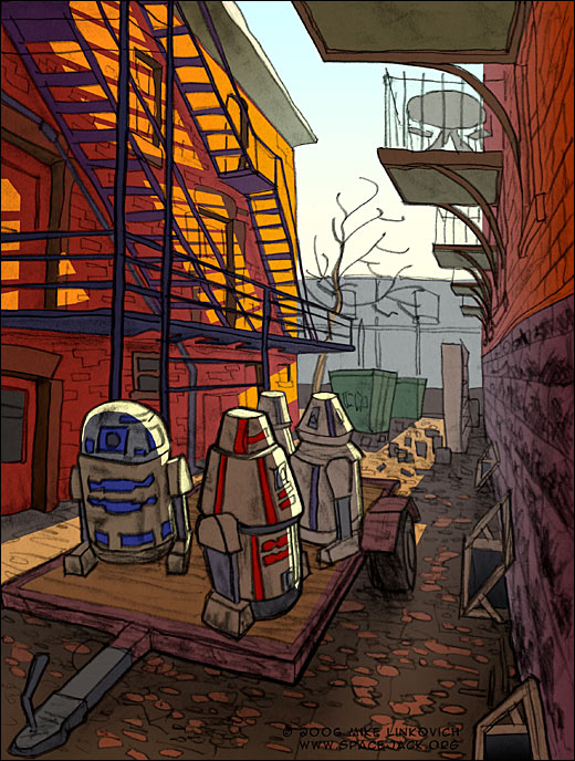Droids in the alley