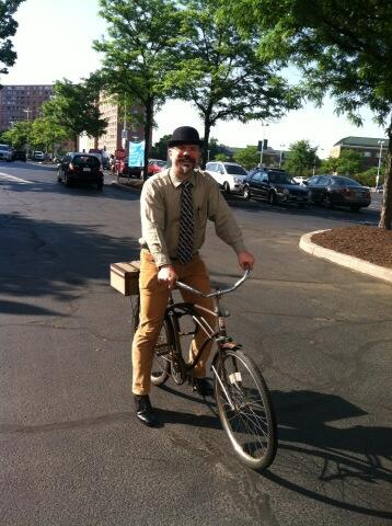 Just in case you missed it in the hole, here is a pic of me on my bike.