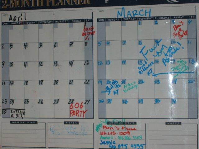 606 party calendar