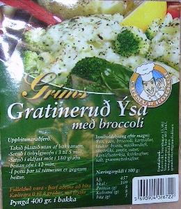 Package: Gratineruð Ýsa með broccoli.