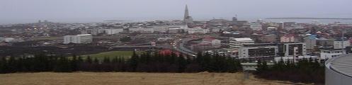Reykjavík as seen from The Pearl